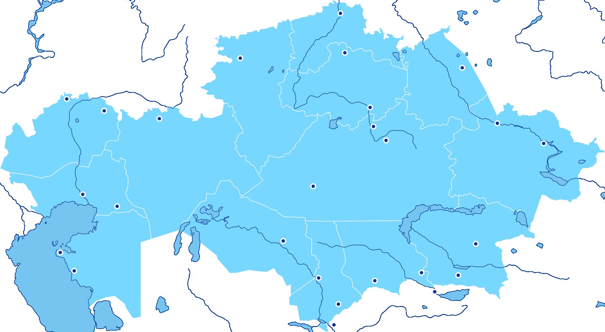 Неинтерактивная карта